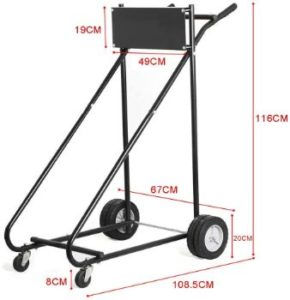 6. GZYF Outboard Boat Motor Cart Stand