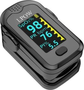 7. ANKOVO Pulse Oximeter Fingertip with LED Screen