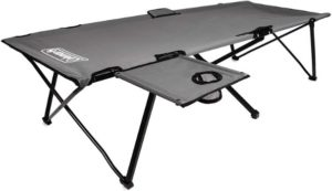 8. Coleman Camping Cot with Side Table