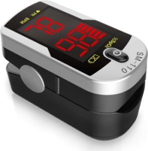 8. Deluxe SM-110 Two Way Display Finger Pulse Oximeter