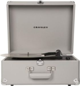 9. Crosley CR6253A-GY Anthology Vintage Suitcase Turntable