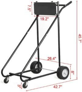 9. GZYF Boat Outboard Engine Motor Stand Cart