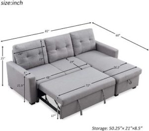4. HALOWAY 82-inch Reversible Sectional Sofa