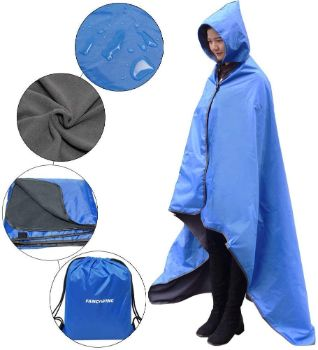 6. FANCYWING Portable Hooded Stadium Blanket