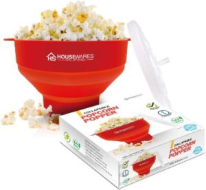 7. Collapsible Silicone Microwave Hot Air Popcorn Popper