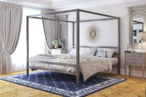 8. DHP Modern Canopy Bed (Gray)