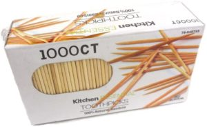 #1. 1000 Count 100% Natural Bamboo Toothpicks