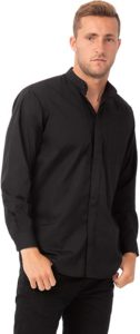 #10. Chef Works Men's Banded Collar Shirt