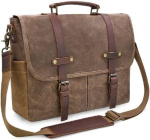 #3. NewHey Vintage Leather Briefcase