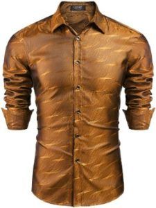 #5. COOFANDY Men's Luxury Dress Shirt