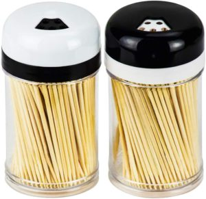 #5. DecorRack 2 Toothpick Dispensers with 400 Natural Wood Toothpicks