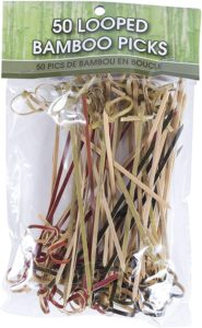 #7. R Ideas, Picks Looped Bamboo, 50 Count