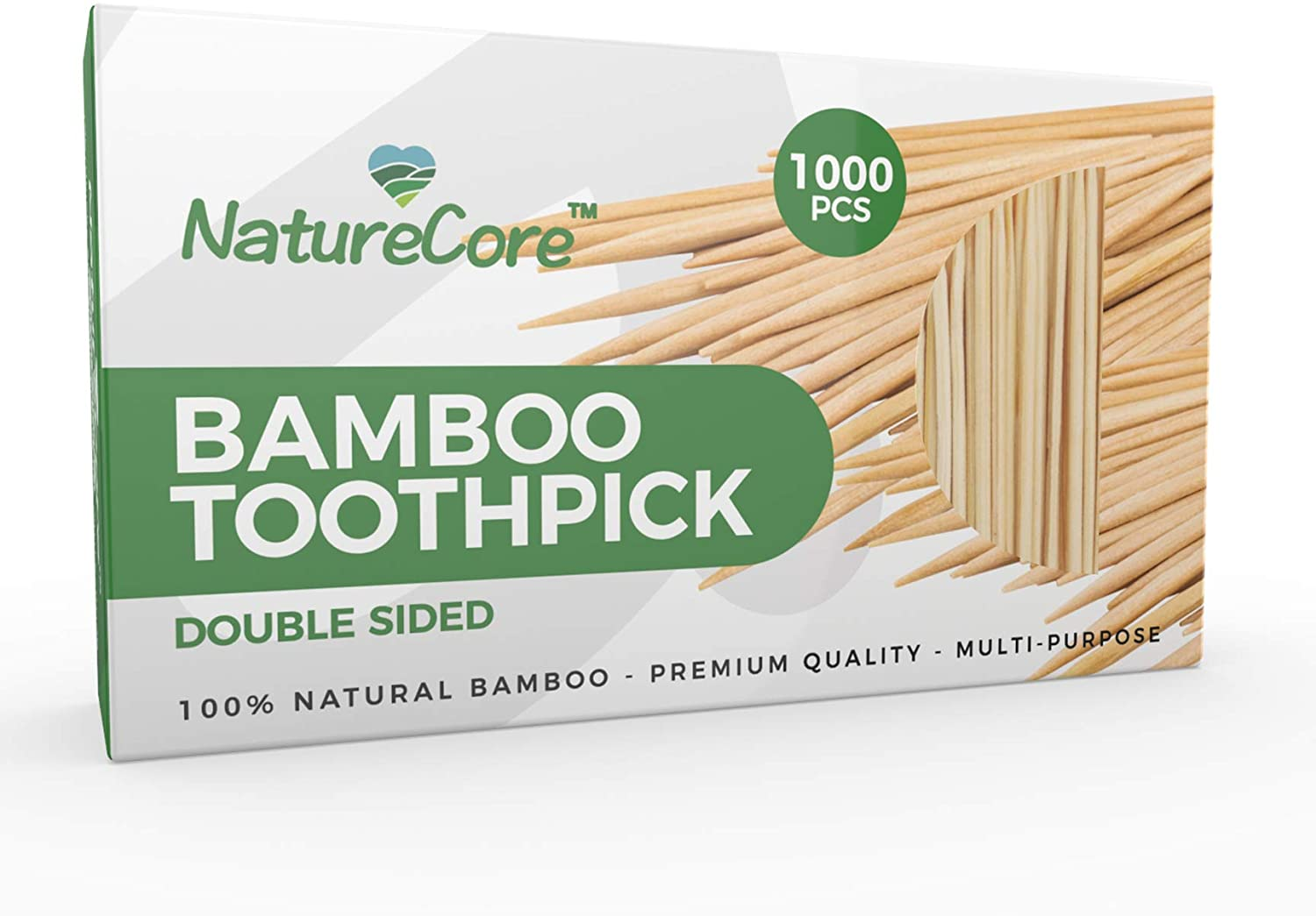 #8. NEW NatureCore Bamboo Toothpicks Wooden – 1000 CT